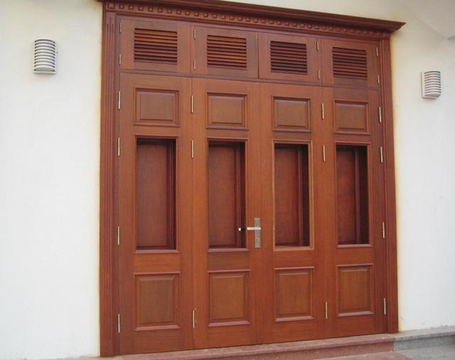 mau cua go 4 canh 1 - Mẫu cửa gỗ 4 cánh