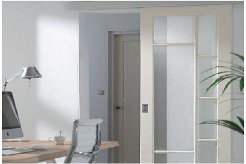 1 1 - Mẫu cửa nhôm kính 1 cánh phòng ngủ