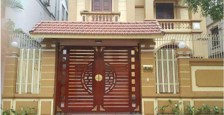 cua cong go nhua - Cung cấp cửa cổng gỗ nhựa